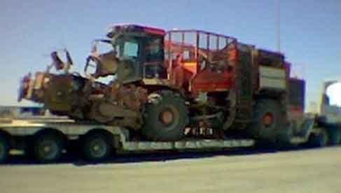 servicios de transporte de maquinaria agricola