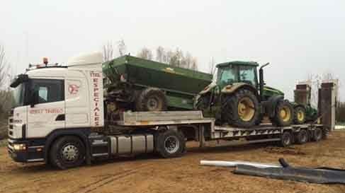 transporte maquinaria agricola