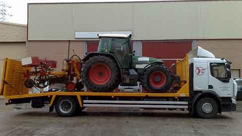 transporte maquinaria agricola en valladolid
