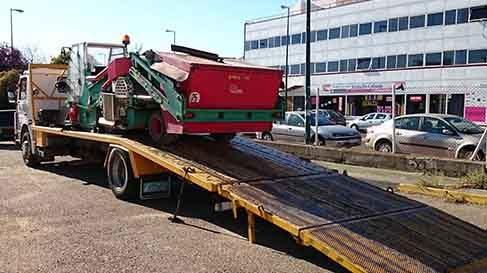 servicios de transportes de maquinaria agricola