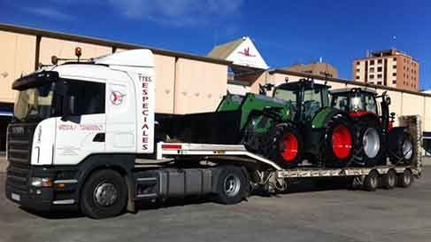 transporte de maquinaria agricola