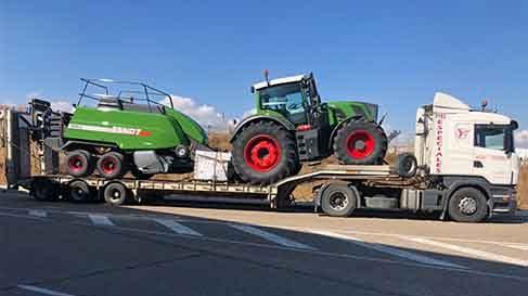 transportes maquinaria agricola