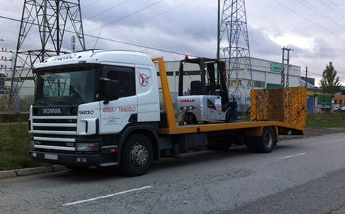 transporte maquinaria industrial tamaño y peso