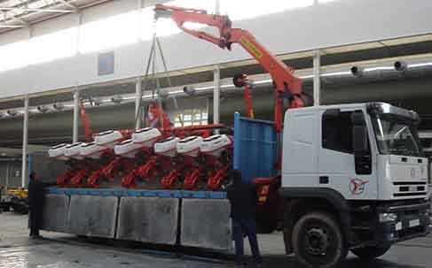 sembradora en camión pluma
