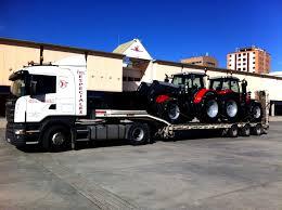 transportes de tractores
