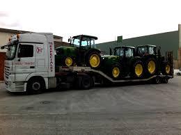 transporte de tractor