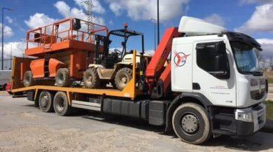 transportar maquinaria pesada