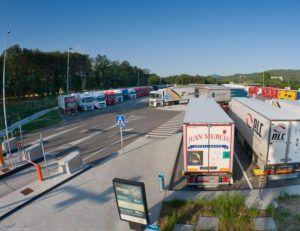 aparcamiento para camiones