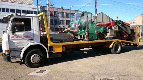 transporte maquinaria agricola recolectora
